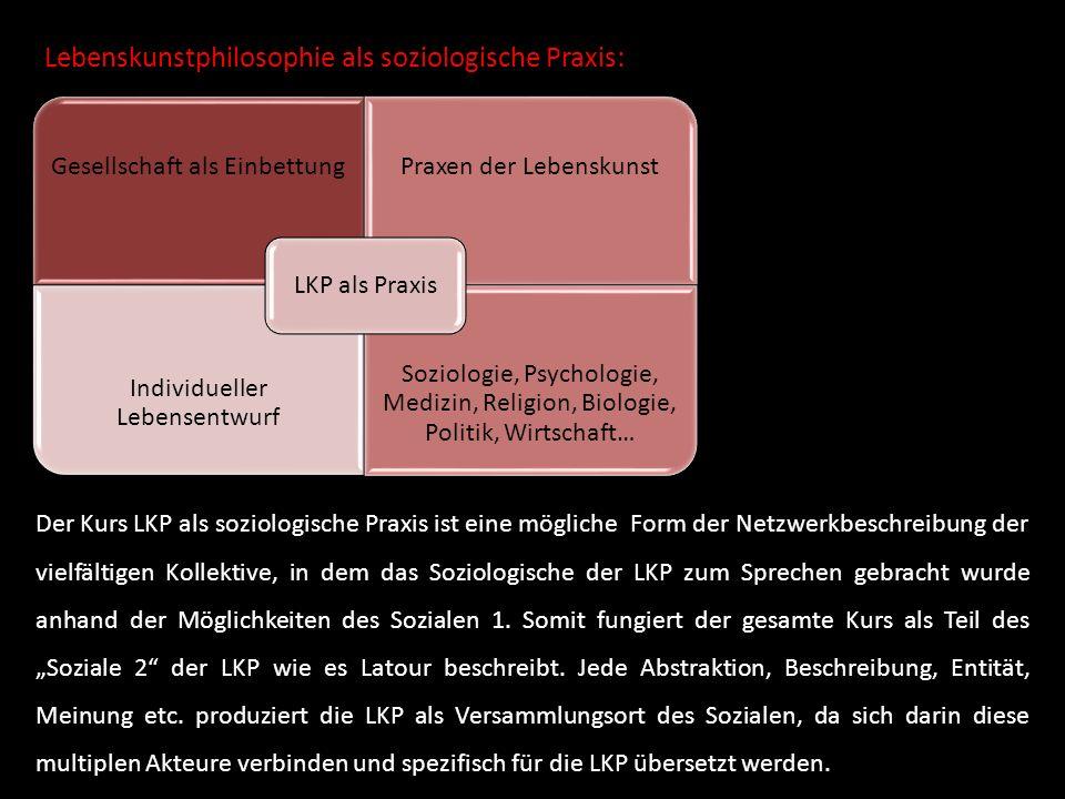Lebenskunstphilosophie als soziologische Praxis: