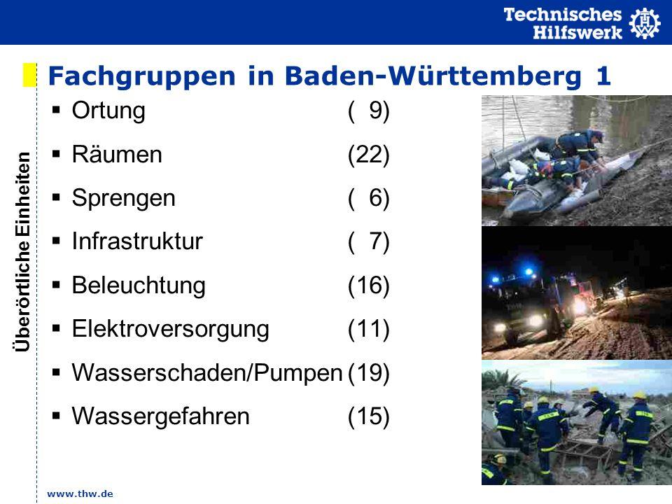 Fachgruppen in Baden-Württemberg 1