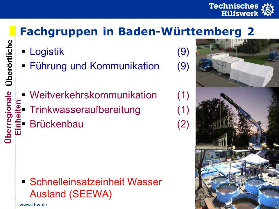 Fachgruppen in Baden-Württemberg 2