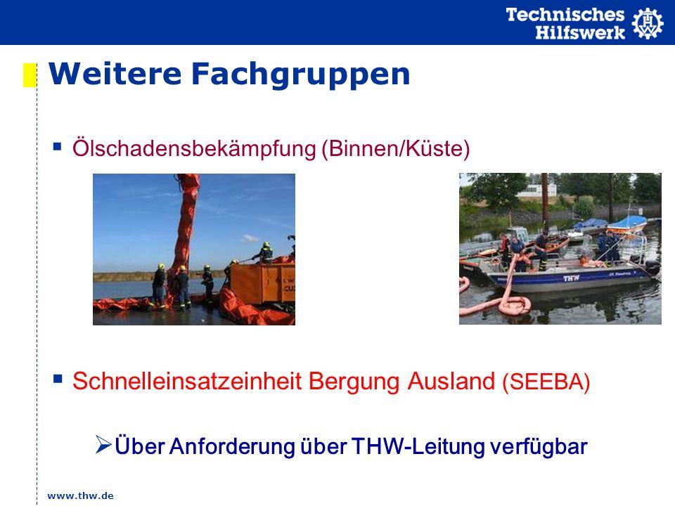 Weitere Fachgruppen Schnelleinsatzeinheit Bergung Ausland (SEEBA)