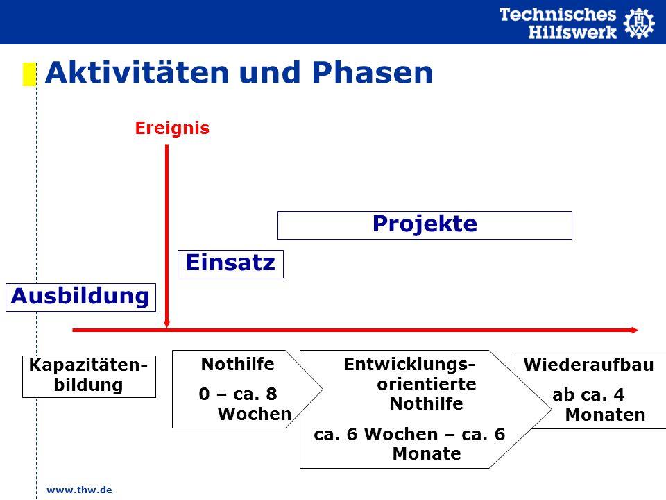 Aktivitäten und Phasen