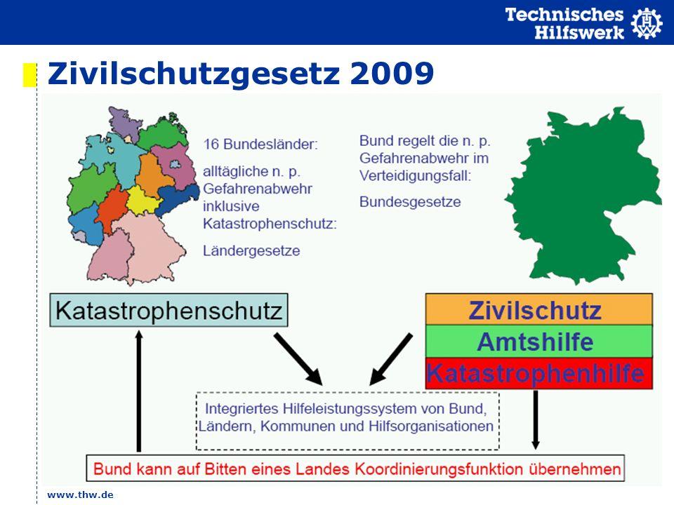 Zivilschutzgesetz 2009 www.thw.de