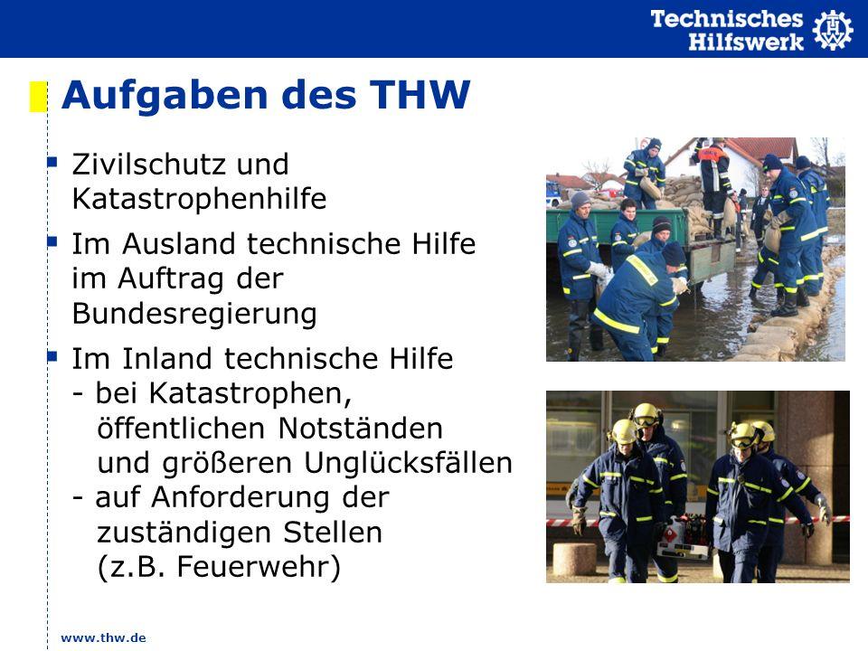 Aufgaben des THW Zivilschutz und Katastrophenhilfe