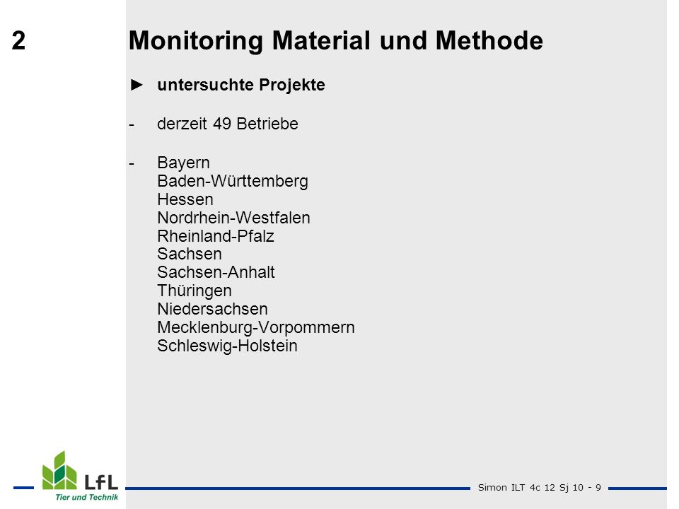 2 Monitoring Material und Methode