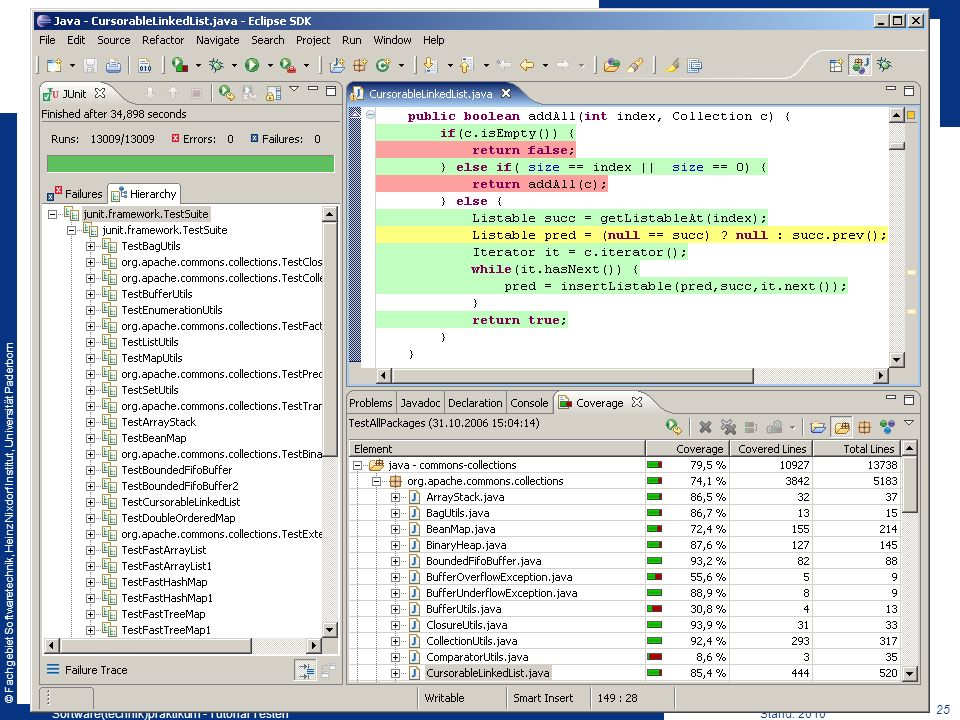 Software(technik)praktikum - Tutorial Testen