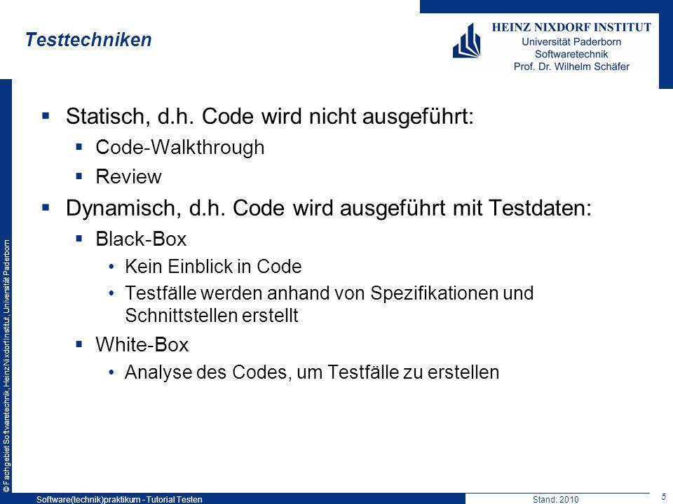 Statisch, d.h. Code wird nicht ausgeführt: