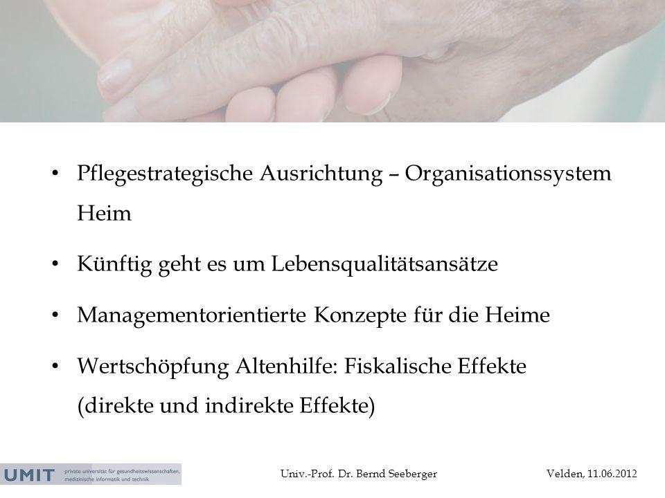 Pflegestrategische Ausrichtung – Organisationssystem Heim