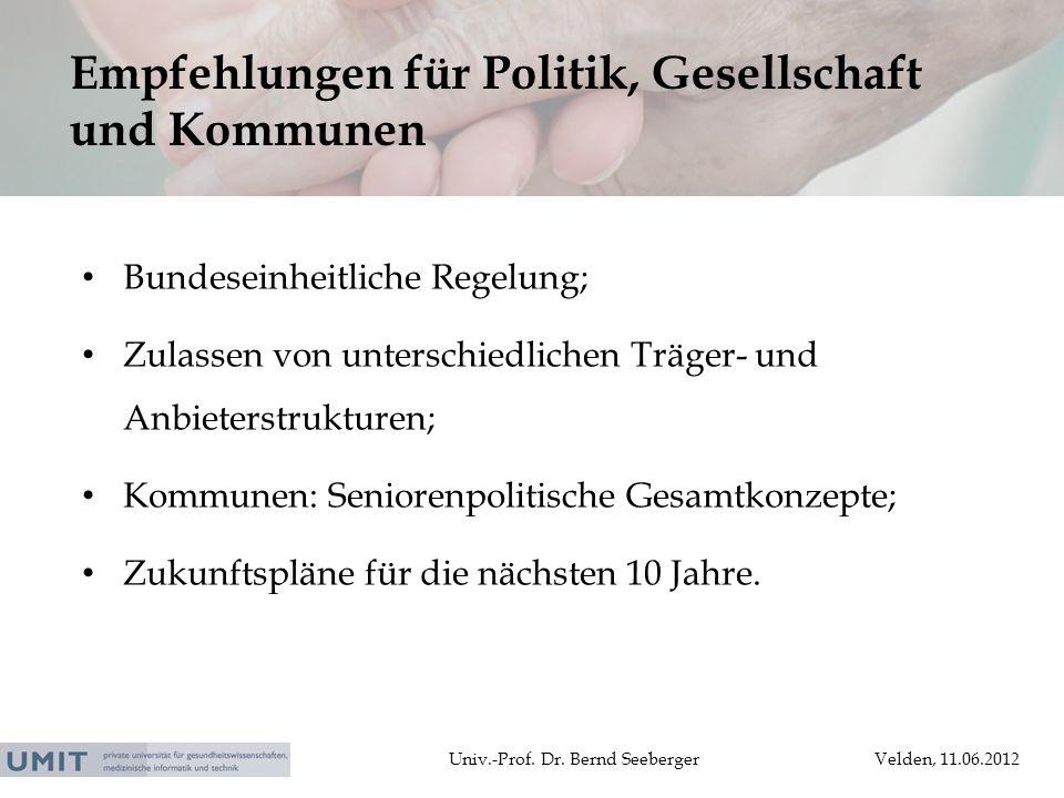Empfehlungen für Politik, Gesellschaft und Kommunen