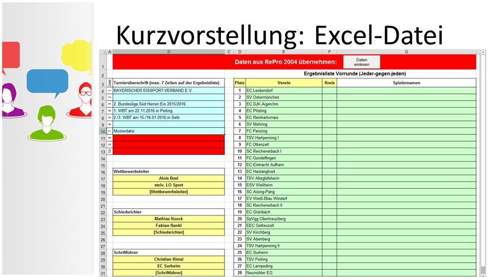 Kurzvorstellung: Excel-Datei