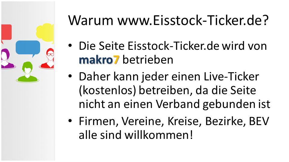 Warum www.Eisstock-Ticker.de