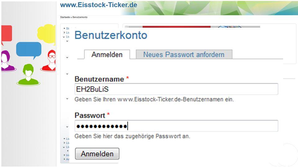 Live-Ticker: Login Geben Sie folgende Adresse (URL) ein: http://config.eisstock-ticker.de. Sie werden auf folgende Seite weitergeleitet: