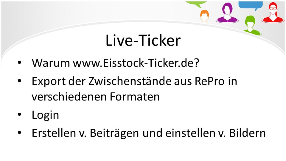Live-Ticker Warum www.Eisstock-Ticker.de