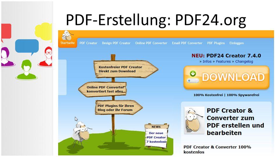 PDF-Erstellung: PDF24.org