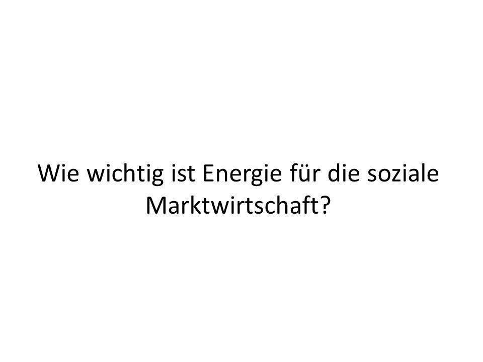 Wie wichtig ist Energie für die soziale Marktwirtschaft