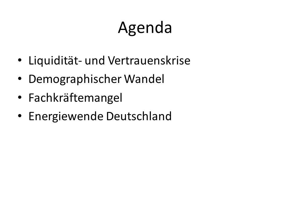 Agenda Liquidität- und Vertrauenskrise Demographischer Wandel