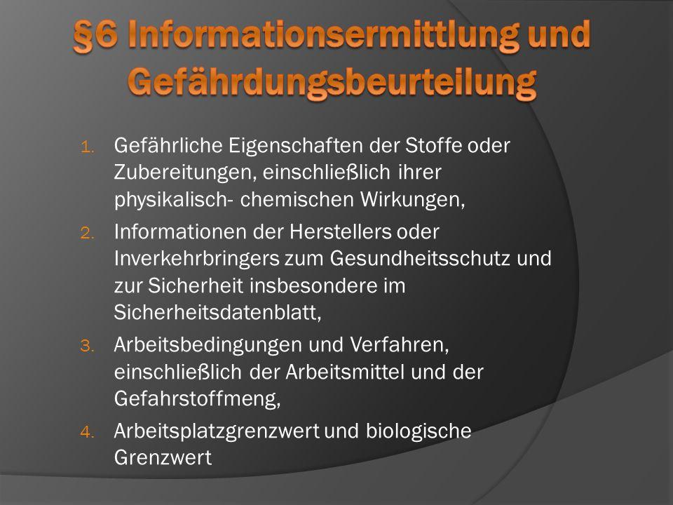 §6 Informationsermittlung und Gefährdungsbeurteilung