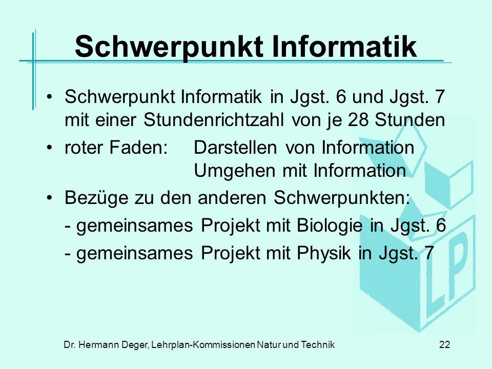 Schwerpunkt Informatik