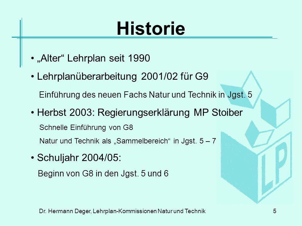 Dr. Hermann Deger, Lehrplan-Kommissionen Natur und Technik