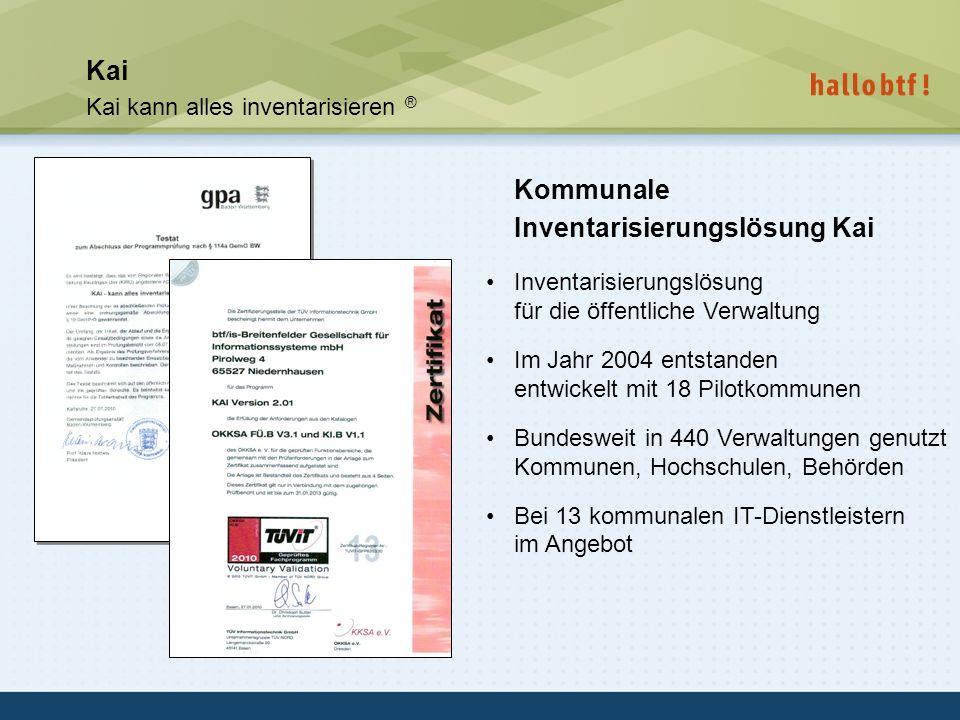 Kommunale Inventarisierungslösung Kai