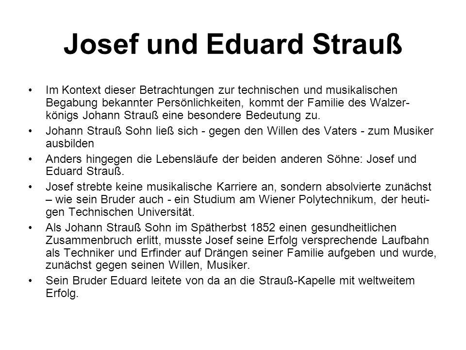 Josef und Eduard Strauß