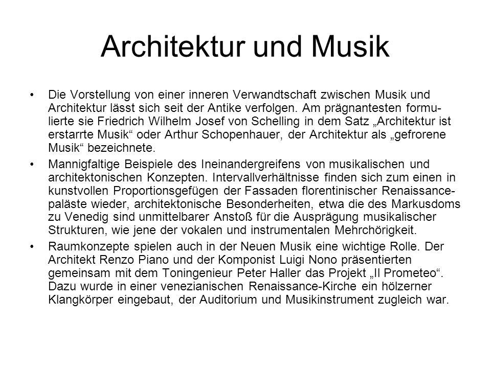 Architektur und Musik