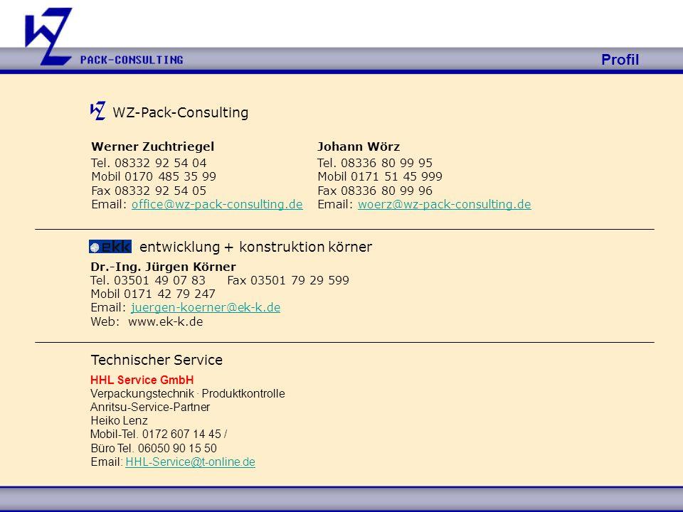 Profil WZ-Pack-Consulting entwicklung + konstruktion körner