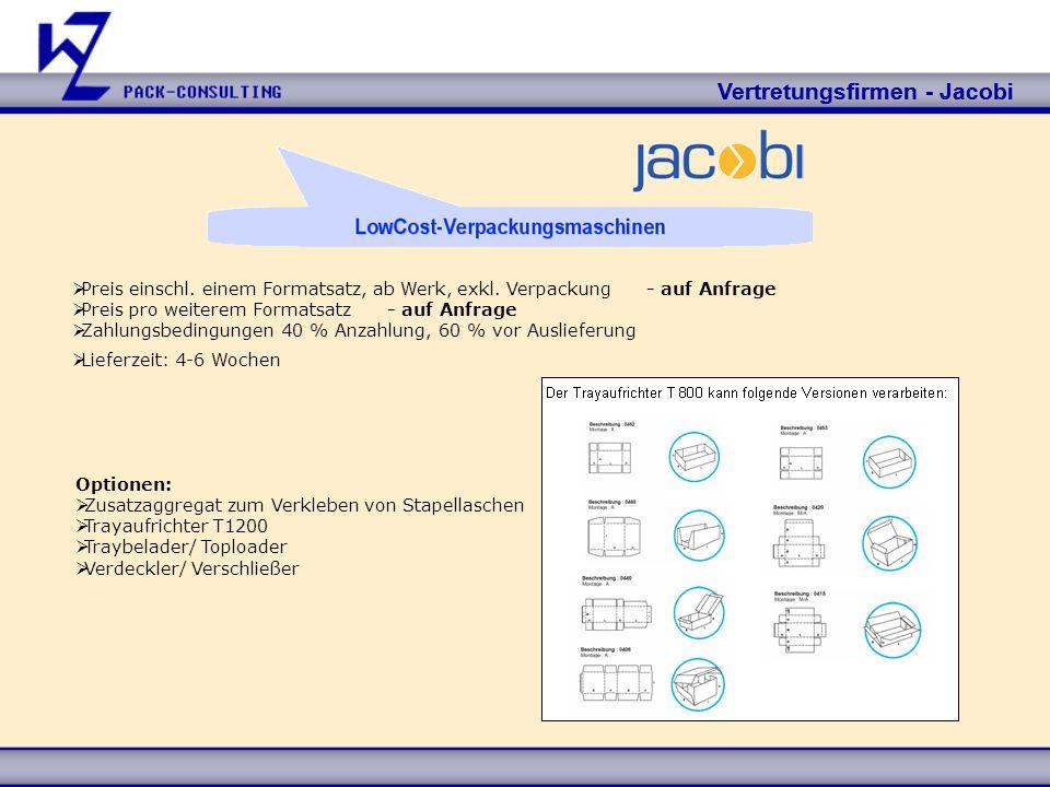 Vertretungsfirmen - Jacobi Vertretungsfirmen - Jacobi