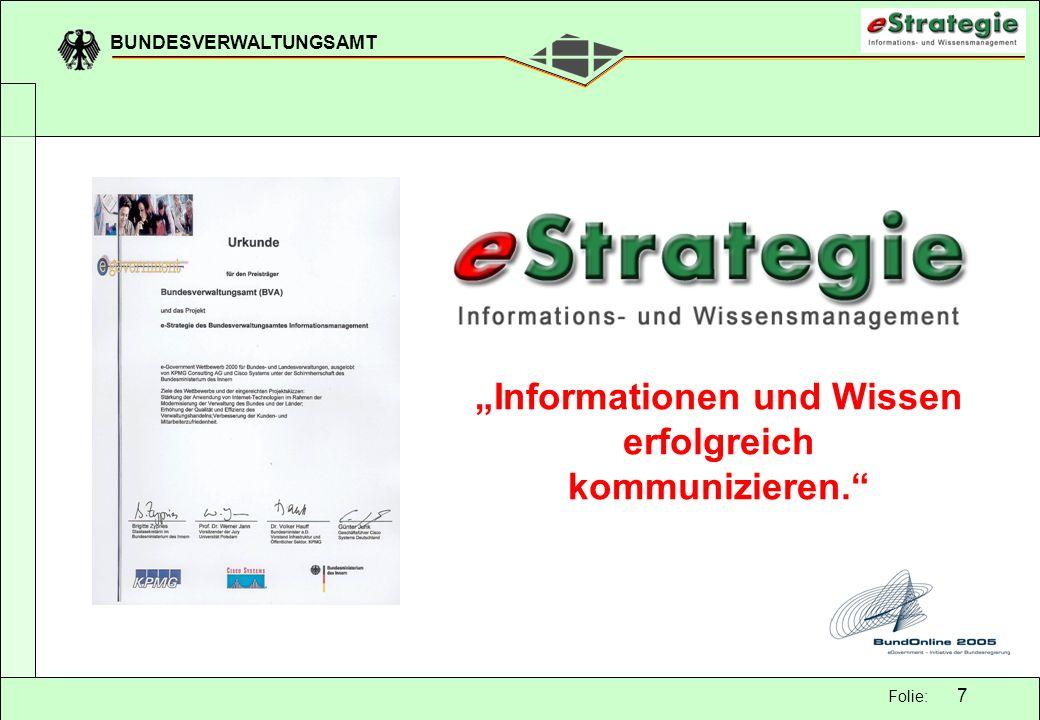 """""""Informationen und Wissen erfolgreich kommunizieren."""