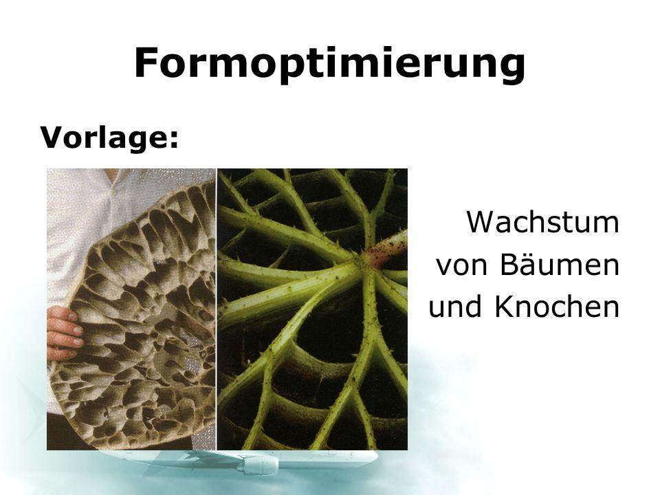 Formoptimierung Vorlage: Wachstum von Bäumen und Knochen