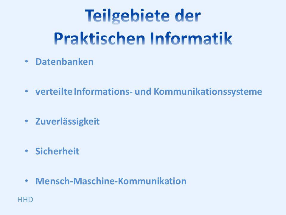 Teilgebiete der Praktischen Informatik