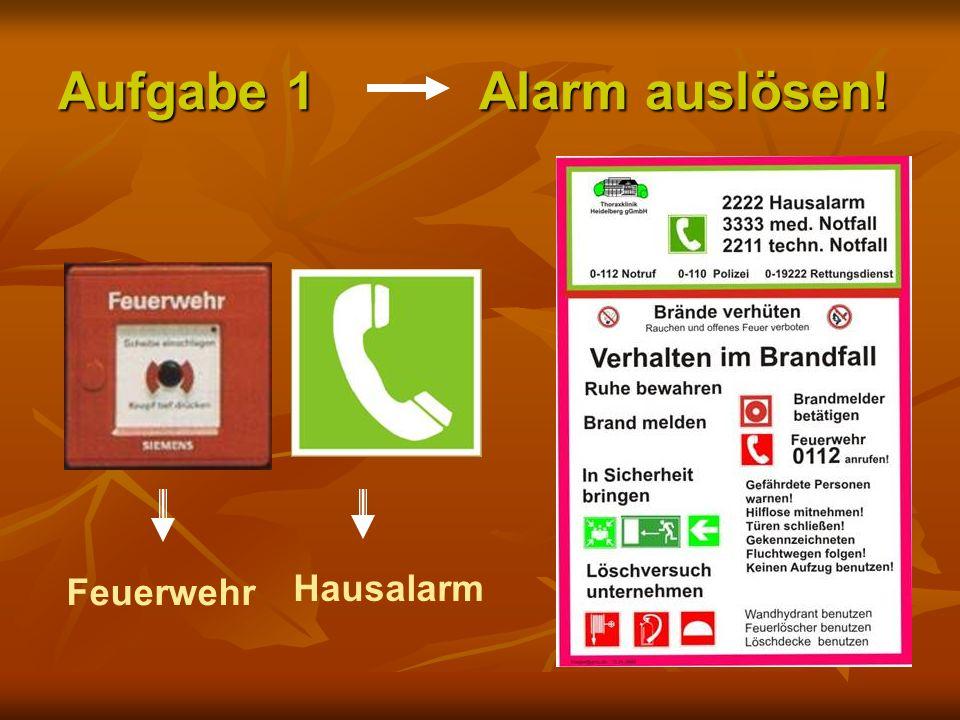 Aufgabe 1 Alarm auslösen!