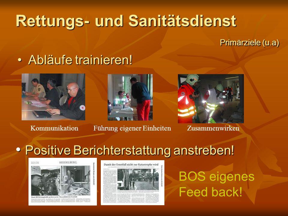 Rettungs- und Sanitätsdienst Primärziele (u.a)
