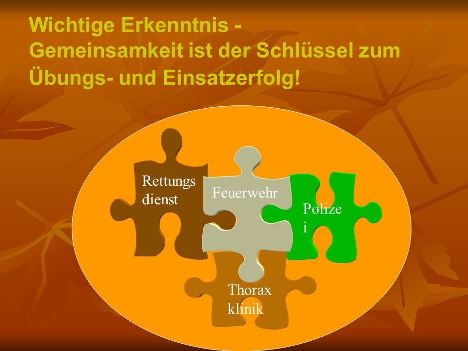 Gemeinsamkeit ist der Schlüssel zum Übungs- und Einsatzerfolg!