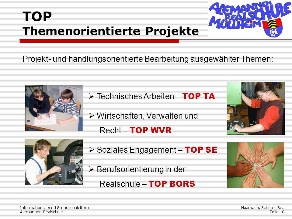 TOP Themenorientierte Projekte