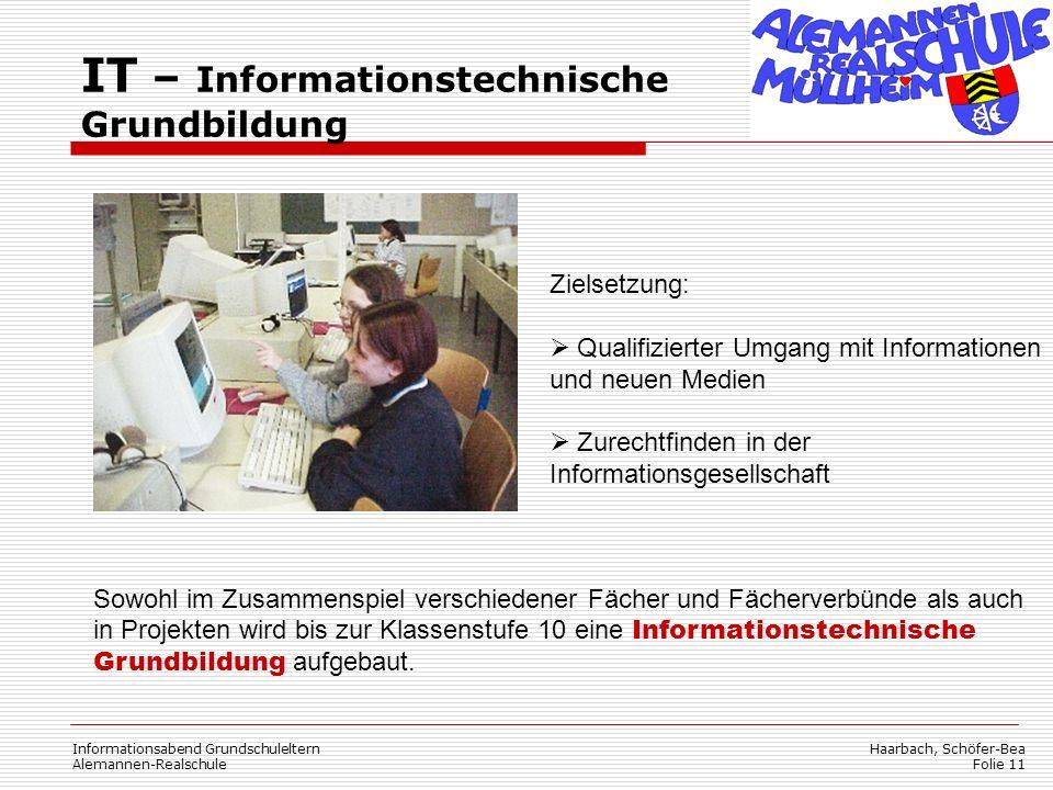 IT – Informationstechnische Grundbildung