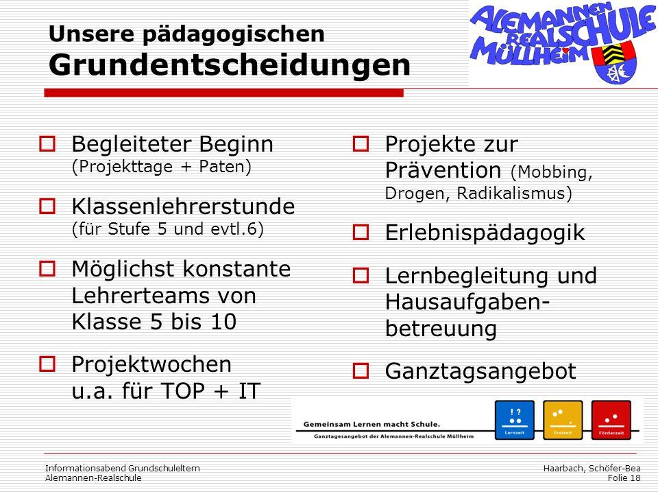 Unsere pädagogischen Grundentscheidungen