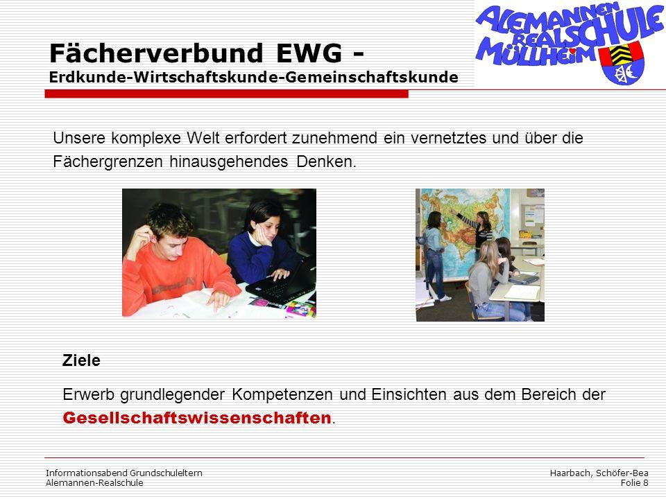 Fächerverbund EWG - Erdkunde-Wirtschaftskunde-Gemeinschaftskunde