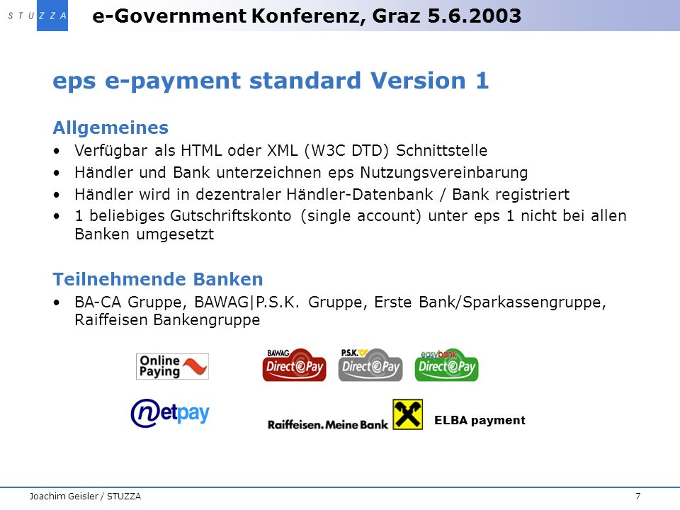 eps e-payment standard Version 1