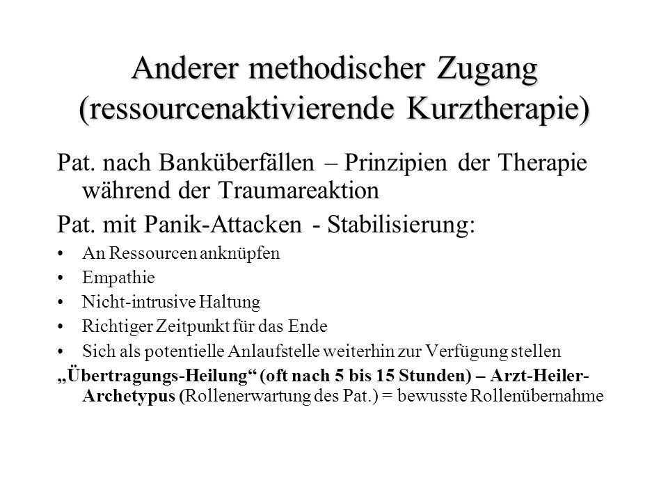 Anderer methodischer Zugang (ressourcenaktivierende Kurztherapie)
