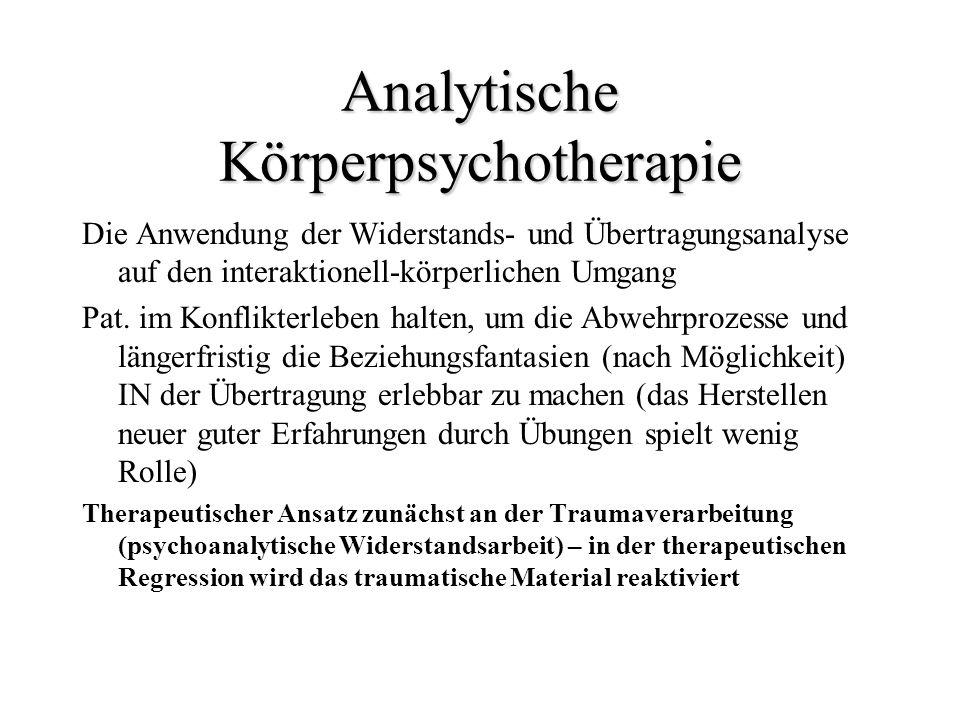 Analytische Körperpsychotherapie