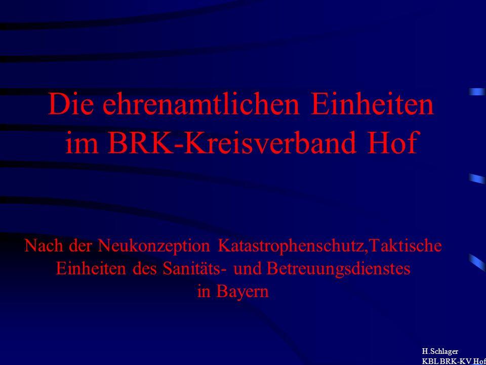 Die ehrenamtlichen Einheiten im BRK-Kreisverband Hof