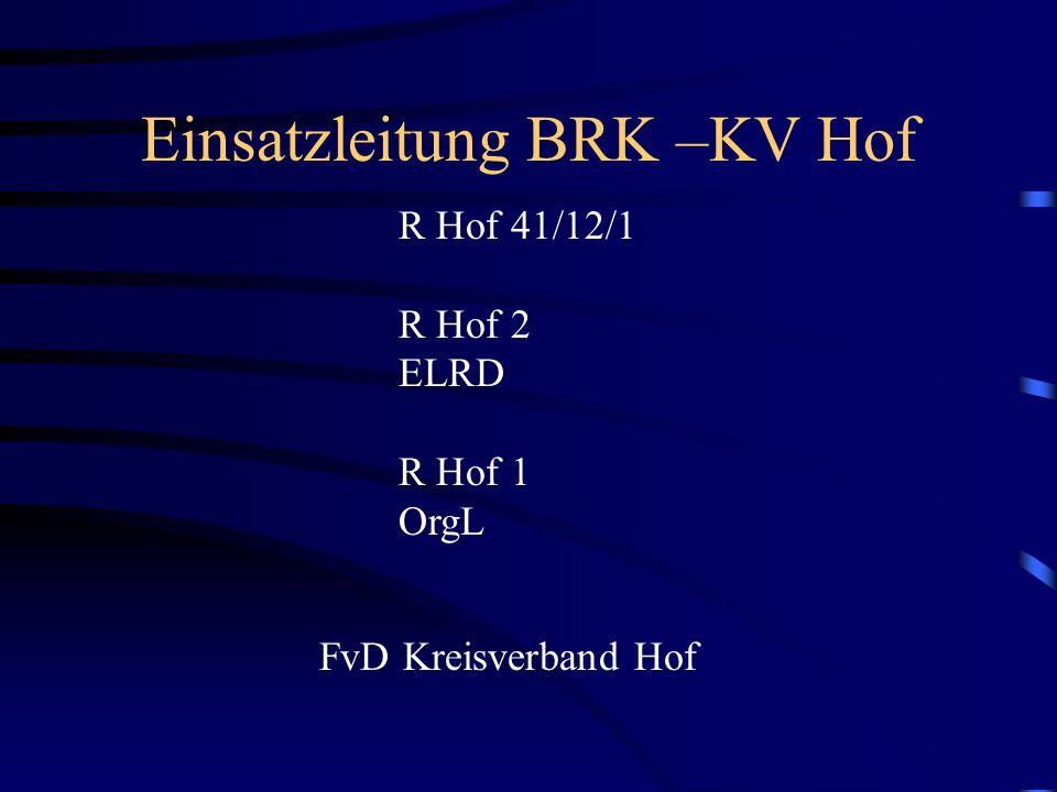 Einsatzleitung BRK –KV Hof
