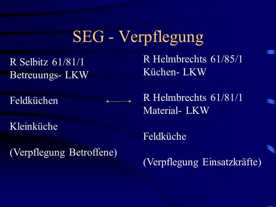 SEG - Verpflegung R Helmbrechts 61/85/1 R Selbitz 61/81/1 Küchen- LKW