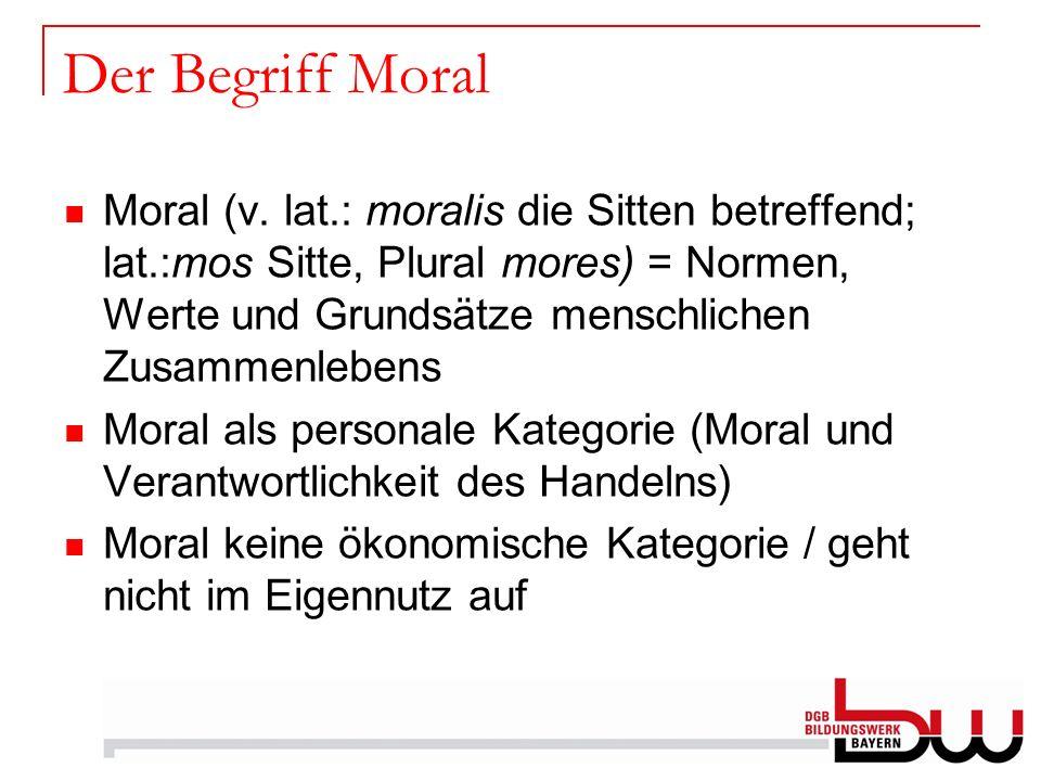 Der Begriff Moral