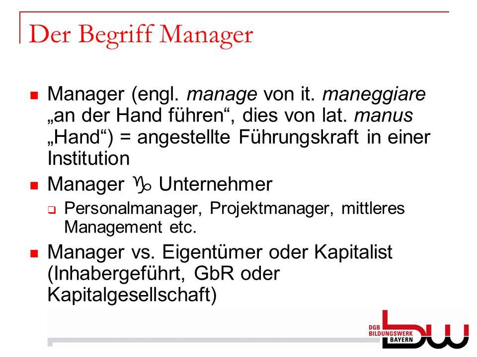 Der Begriff Manager