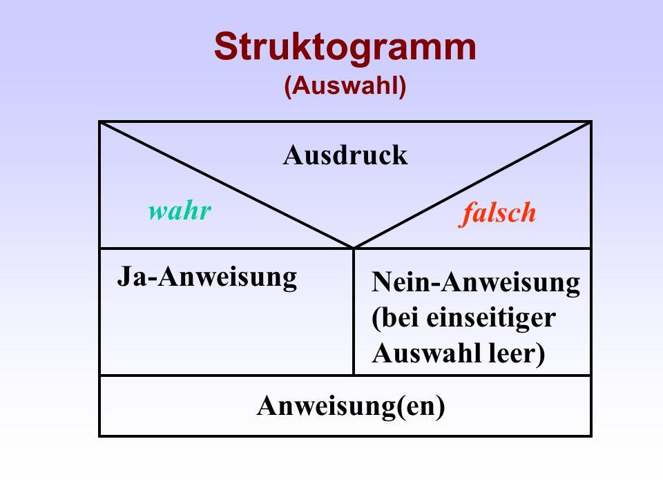 Struktogramm (Auswahl)