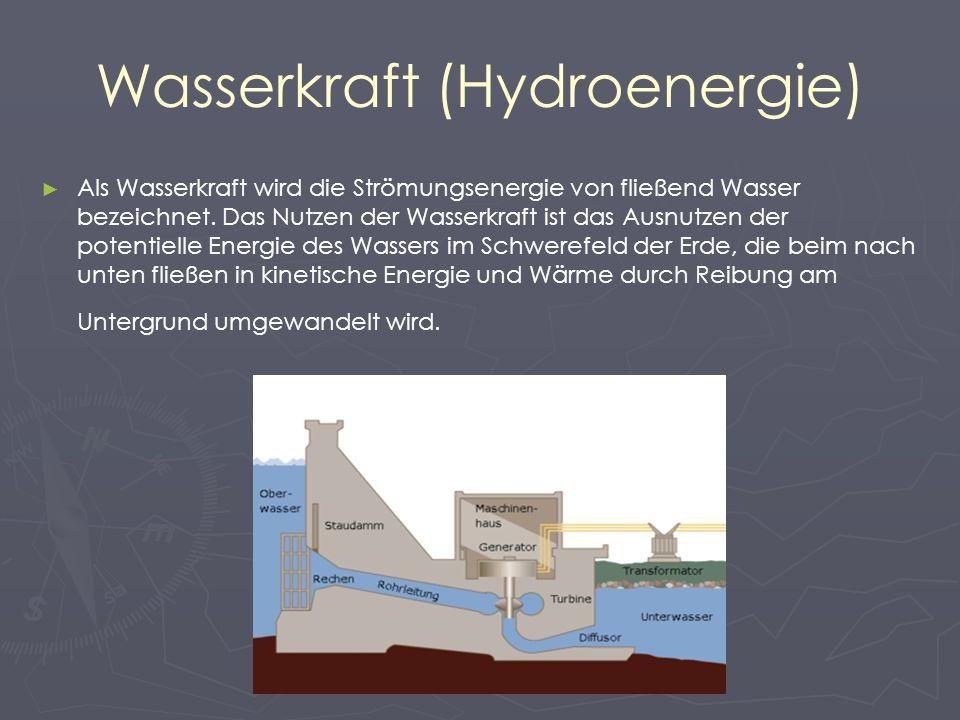 Wasserkraft (Hydroenergie)