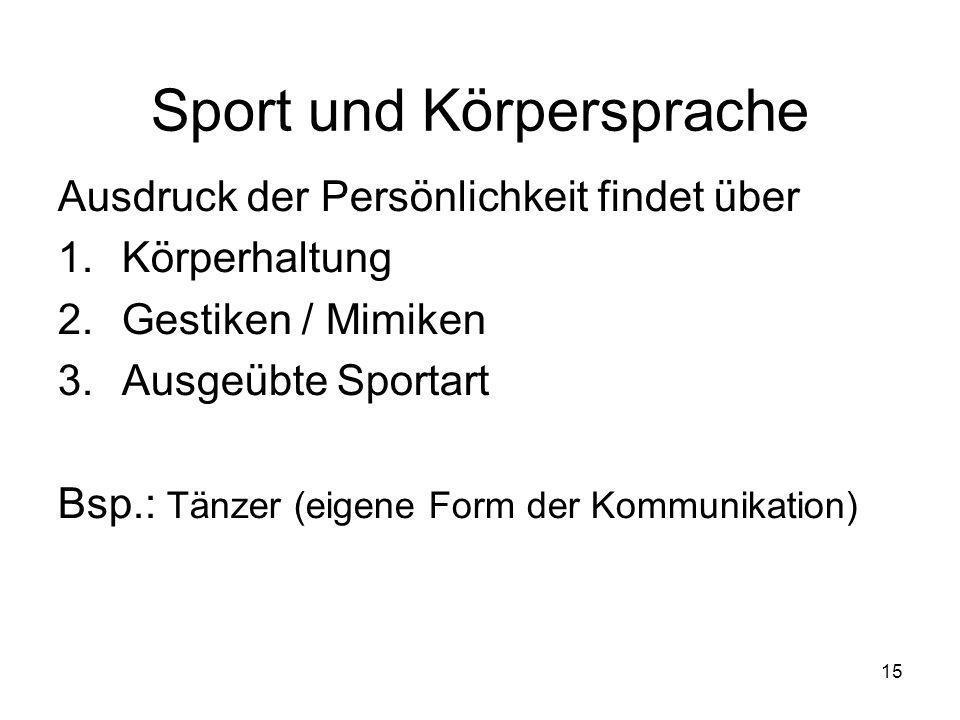 Sport und Körpersprache