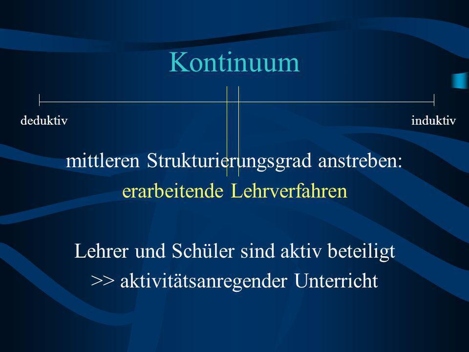Kontinuum mittleren Strukturierungsgrad anstreben: