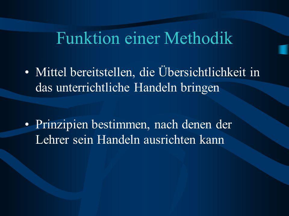 Funktion einer Methodik